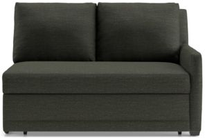 Reston Right Arm Loveseat Trundle Sleeper Sofa shown in Curious, Charcoal