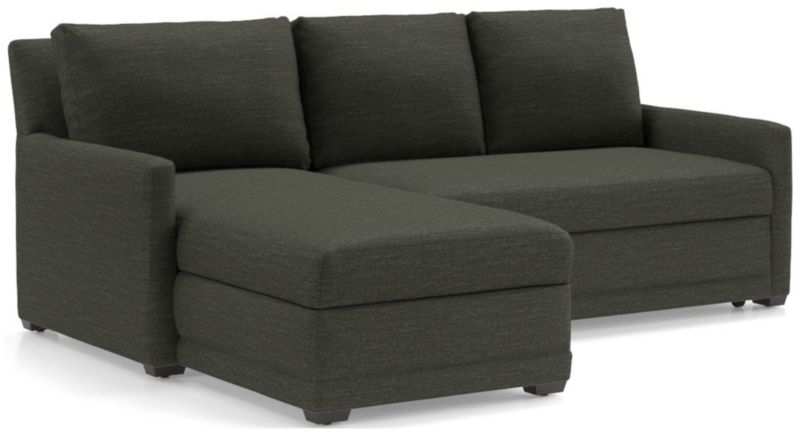 Reston 2-Piece Left Arm Chaise Trundle Sleeper Sectional Sofa | Crate and  Barrel