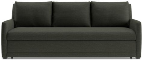 Reston Queen Trundle Sleeper Sofa shown in Curious, Charcoal
