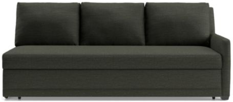Reston Right Arm Queen Trundle Sleeper Sofa shown in Curious, Charcoal