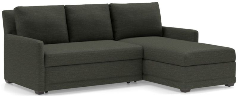 Reston 2 Piece Sectional Trundle Sleeper Sofa With Right Arm Storage Chaise