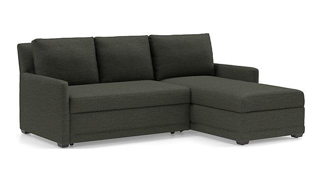 Reston Grey Sectional Sleeper Sofa