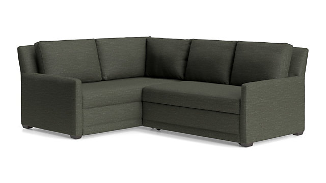 Tap To Zoom Reston 2 Piece Left Arm Corner Trundle Sleeper Sectional Sofa Right Loveseat