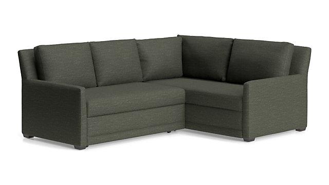 Reston 2 Piece Right Arm Corner Trundle Sleeper Sectional Sofa