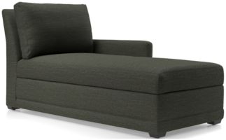 Reston Right Arm Chaise Lounge shown in Curious, Charcoal