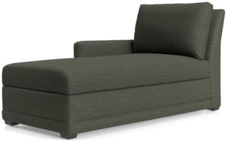 Reston Left Arm Storage Chaise shown in Curious, Charcoal