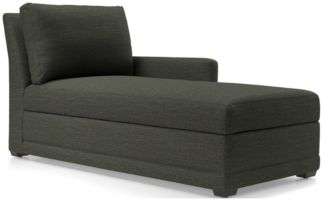 Reston Right Arm Storage Chaise shown in Curious, Charcoal