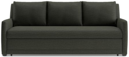 Reston Full Trundle Sleeper Sofa shown in Curious, Charcoal