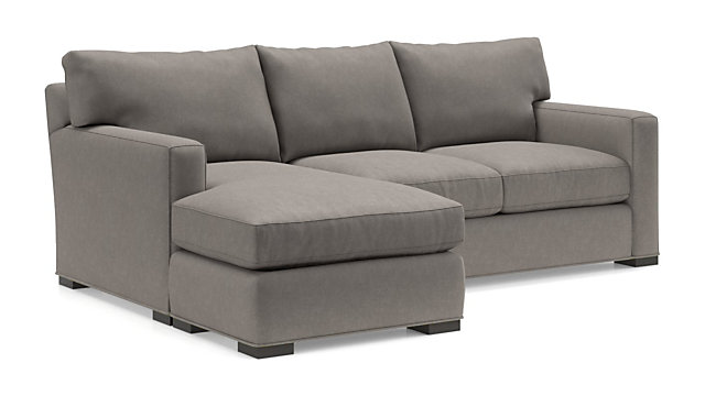 Axis II 3-Seat Reversible Chaise Sofa shown in Douglas, Nickel