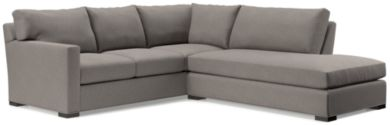 Axis II 2-Piece Right Bumper Sectional Sofa (Left Arm Corner Sofa, Right Bumper) shown in Douglas, Nickel