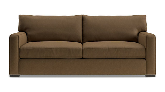 Axis Ii 2 Seater Brown Microfiber Sofa