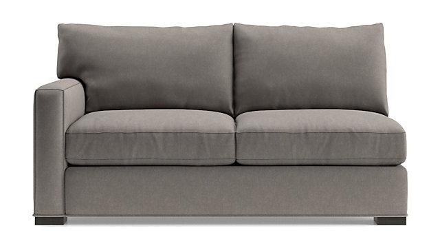 Axis II Left Arm Apartment Sofa shown in Douglas, Nickel