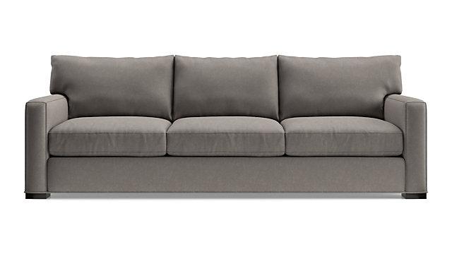 "Axis II 3-Seat 105"" Grande Sofa shown in Douglas, Nickel"