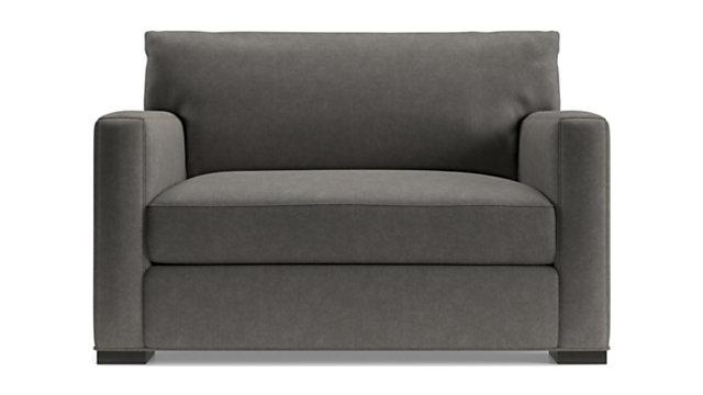 Axis II Twin Ultra Memory Foam Sleeper Sofa shown in Douglas, Charcoal