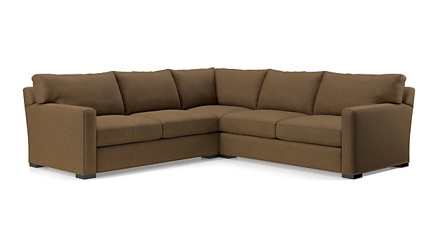 Axis II 3-Piece Sectional Sofa (Left Arm Apartment Sofa, Corner, Right Arm Apartment Sofa) shown in Douglas, Coffee