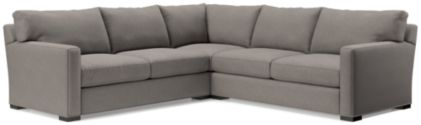Axis II 3-Piece Sectional Sofa (Left Arm Apartment Sofa, Corner, Right Arm Apartment Sofa) shown in Douglas, Nickel