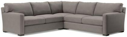 Axis II 3-Piece Sectional Sofa (Left Arm Apartment Sofa, Corner, Right Arm Apartment Sofa) shown in Douglas, Nickel
