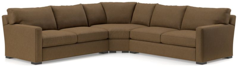 Axis Ii 3 Piece Brown Sectional Sofa Reviews Crate And Barrel