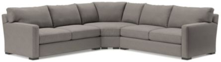 Axis II 3-Piece Sectional Sofa (Left Arm Apartment Sofa, Wedge, Right Arm Apartment Sofa) shown in Douglas, Nickel