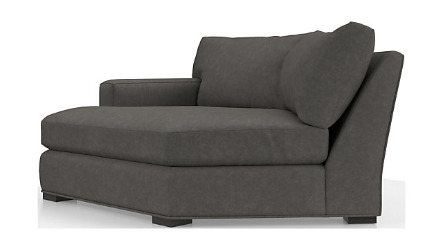Axis II Left Arm Angled Chaise Lounge shown in Douglas, Charcoal