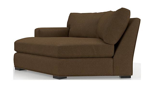 Axis II Left Arm Angled Chaise Lounge shown in Douglas, Coffee