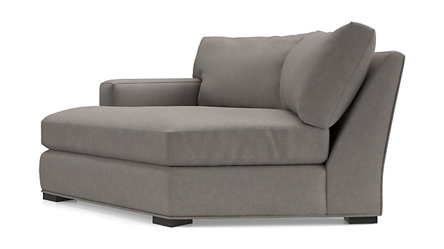 Axis II Left Arm Angled Chaise Lounge shown in Douglas, Nickel