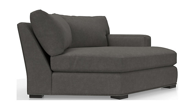 Axis II Right Arm Angled Chaise Lounge shown in Douglas, Charcoal