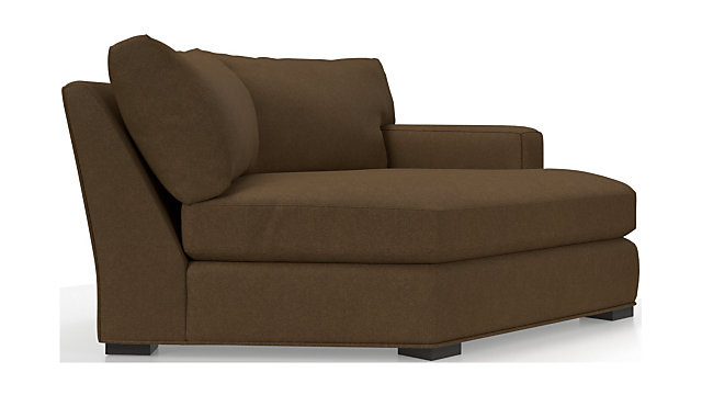Axis II Right Arm Angled Chaise Lounge shown in Douglas, Coffee