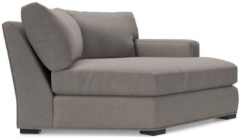 Axis II Right Arm Angled Chaise Lounge shown in Douglas, Nickel