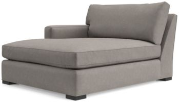 Axis II Left Arm Double Chaise Lounge shown in Douglas, Nickel