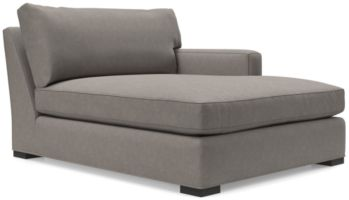 Axis II Right Arm Double Chaise Lounge shown in Douglas, Nickel