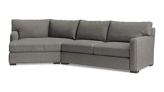Axis II 2-Piece Left Arm Angled Chaise Sectional Sofa + Reviews   Crate and  Barrel