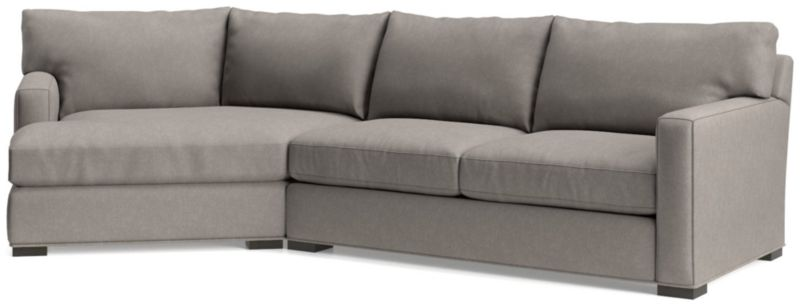 Lovely TAP TO ZOOM Axis II 2 Piece Left Arm Angled Chaise Sectional Sofa(Left Arm Angled  Chaise