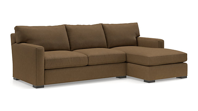 Axis II 2-Piece Sectional Sofa (Left Arm Apartment Sofa, Right Arm Chaise) shown in Douglas, Coffee