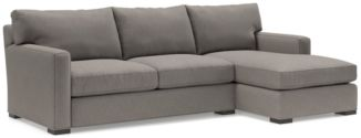 Axis II 2-Piece Sectional Sofa (Left Arm Apartment Sofa, Right Arm Chaise) shown in Douglas, Nickel