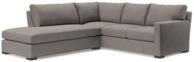 Axis II 2-Piece Left Bumper Sectional Sofa(Right Arm Corner Sofa, Left Bumper) shown in Douglas, Nickel