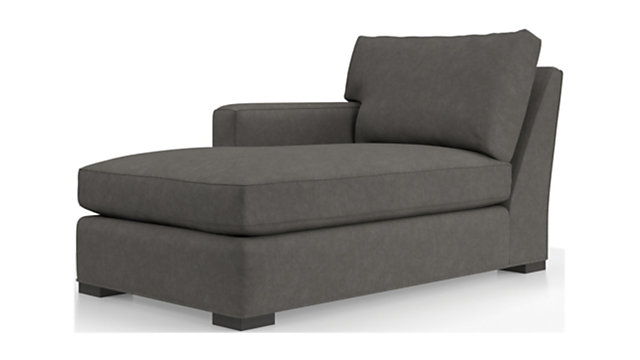 Axis II Left Arm Chaise Lounge shown in Douglas, Charcoal