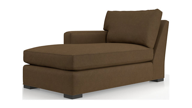 Axis II Left Arm Chaise Lounge shown in Douglas, Coffee