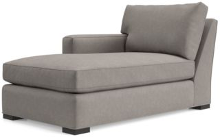 Axis II Left Arm Chaise Lounge shown in Douglas, Nickel