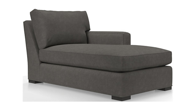 Axis II Right Arm Chaise Lounge shown in Douglas, Charcoal
