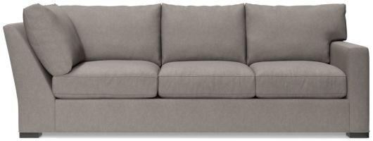 Axis II Right Arm Corner Sofa shown in Douglas, Nickel