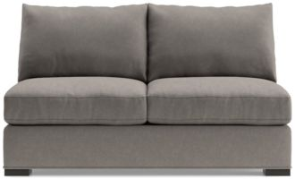 Axis II Armless Full Sleeper Sofa with Air Mattress shown in Douglas, Nickel