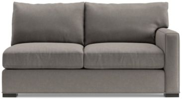 Axis II Right Arm Full Sleeper Sofa with Air Mattress shown in Douglas, Nickel