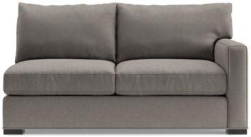 Axis II Right Arm Full Sleeper Sofa with Air Mattress shown in Douglas, Nickel