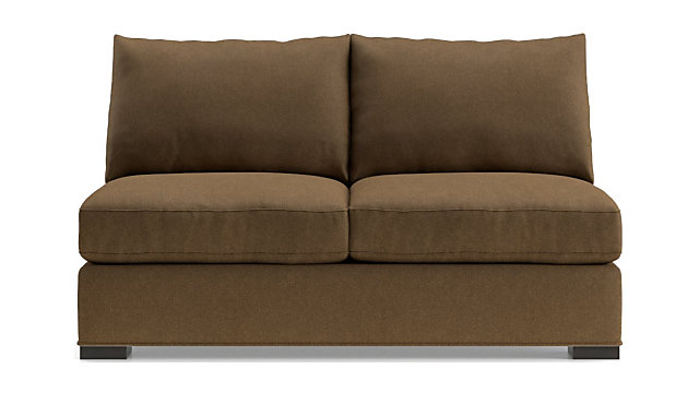 Tap To Zoom Axis Ii Armless Full Sleeper Sofa Shown In Douglas Coffee