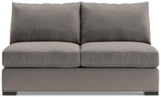 Axis II Armless Full Sleeper Sofa shown in Douglas, Nickel