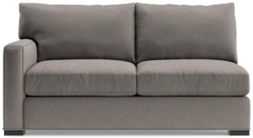 Axis II Left Arm Full Sleeper Sofa shown in Douglas, Nickel