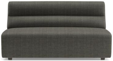 Sydney Armless Loveseat shown in Mystic, Stout