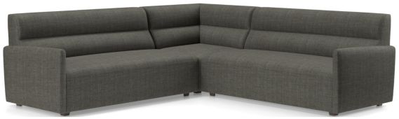 Sydney 3-piece Corner Sectional(Left Arm Sofa, Corner, Right Arm Sofa) shown in Mystic, Stout