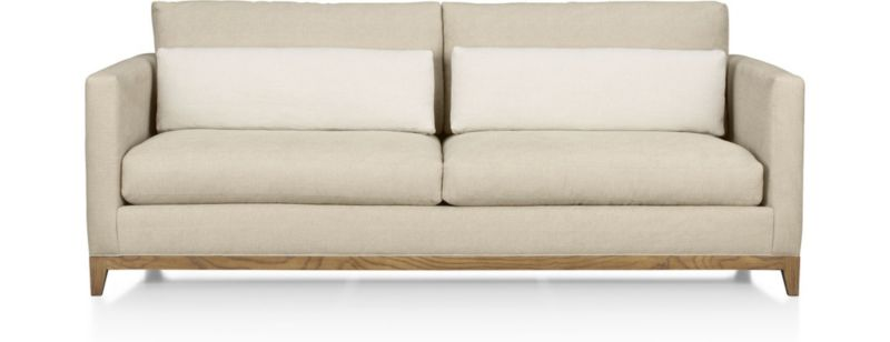 Taraval Apartment Sofa with Oak Base Crate and Barrel